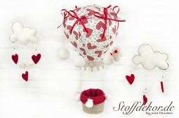 Mobile Heißluftballon Baumwolle Filz Baby