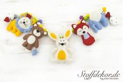 Kinderwagenkette Filz Spielkette Kinderwagen Spielzeug Buggy Kette Wagenkette Babyspielzeug