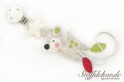 Schnullerkette Filz Schnuller Clip Schnullerhalter Schnullerband Nuckelkette Babyspielzeug