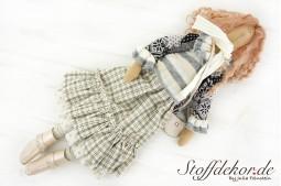 Kunstpuppe Vintage Doll Stoffpuppe Dekoration Puppe Trachtenpuppe Stoff Doll Shabby Puppe