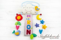 Personalisiertes Türschild Namensschild Filz Babyzimmer Dekoration Kinderzimmer