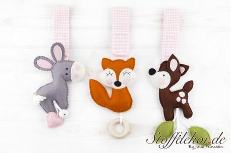 Bambi, Fuchs und Esel