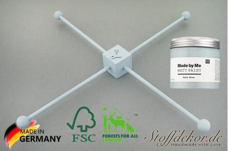 Mobile-Stern Kit 4-armig Ø 30 cm Mobile-Kreuz Bausatz Holzmobile Befestigung Baby Mobile Holzstern Set